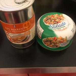 Soupe de poisson et salade campagnarde aux poulet