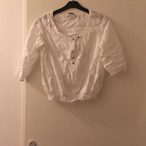 Chemisier Zara blanc taille 36 100% coton