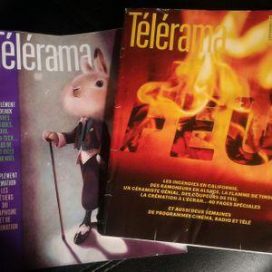 Lot 2 magazines Télérama