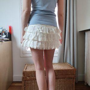 Jupe blanche dentelle Etam
