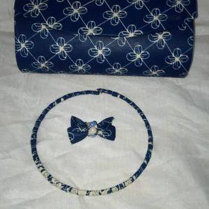 Porte feuille de tissu africain avec collier