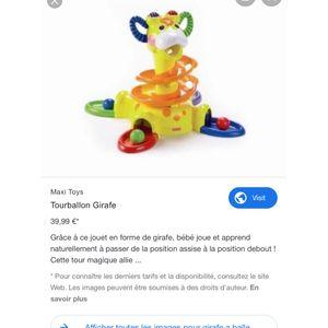Girafe à balle