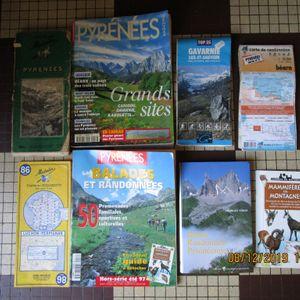 Cartes, circuits et livres rando pyrénées