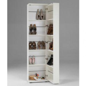 Meuble à chaussures 30 paires miroir