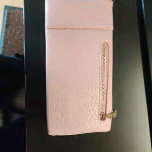 porte feuille rose cuir synthétique