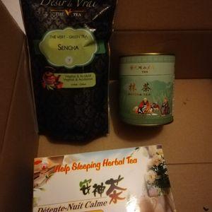 Thé vert chinois et nuit tranquille