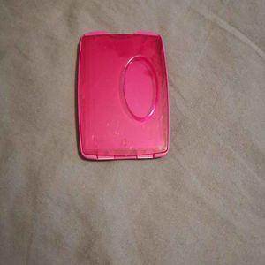 Porte carte rose
