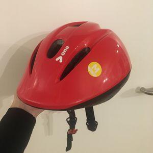 Casque vélo enfant rouge