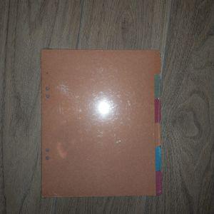 6 intercalaires en carton pour petit classeur