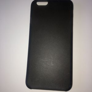 Coque silicone iPhone 6 noir simple
