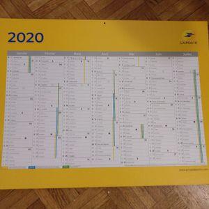 Grand calendrier 2020