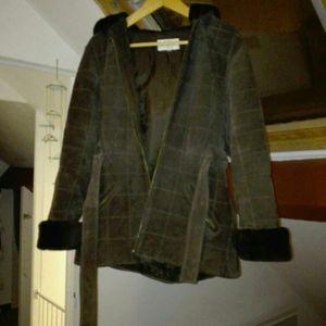 Manteau en cuir marron taille M