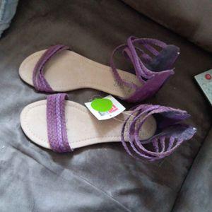 sandales violettes neuves 38