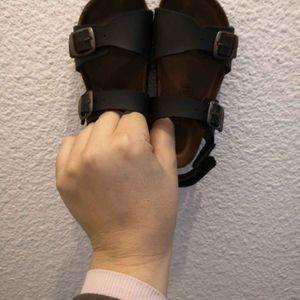 Sandales d'été cuir