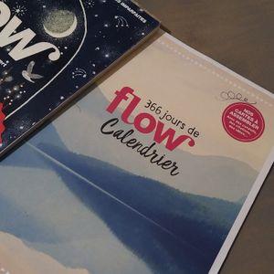 Magazine FLOW de décembre avec un calendrier permanent à assembler