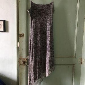 Petite robe gris léopard