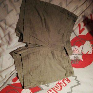 Short en lin/coton
