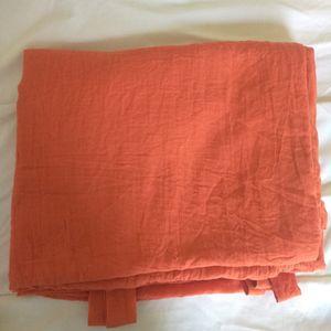 2 Rideaux orange