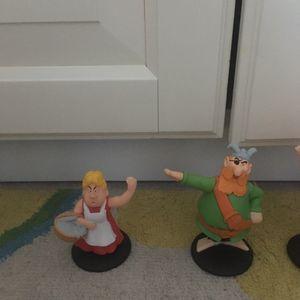 7 Figurines Astérix et Obélisque