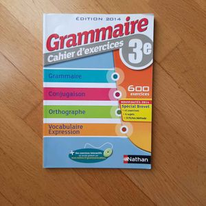 Grammaires cahier d'exercices.