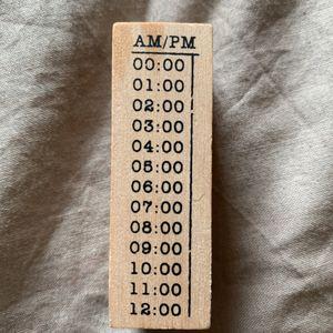 Tampon encreur «heures»