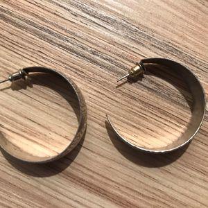 Boucles d'oreilles créoles argentées