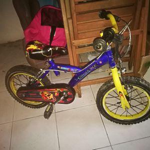 Vélo garçon bleu et noir