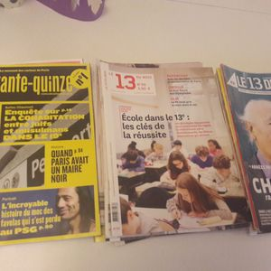 "Lot de magazines ""Le 13 du mois"""