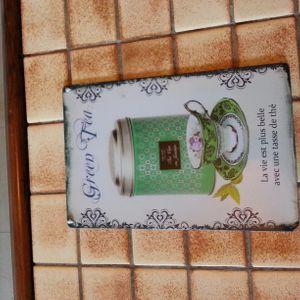 "Tableau métal ""Green Tea"""