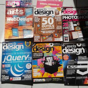 Web design lot de 7 magazines (valeur +50 euros)
