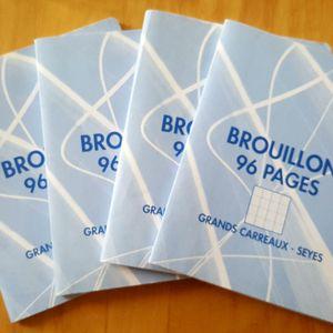 Lot cahiers de brouillon grds carreaux