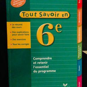 Livre Tout Savoir 6ieme