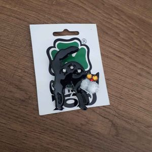 Broche chat lumineuse