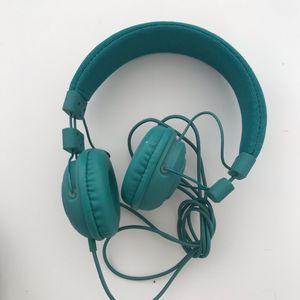 Casque audio bleu
