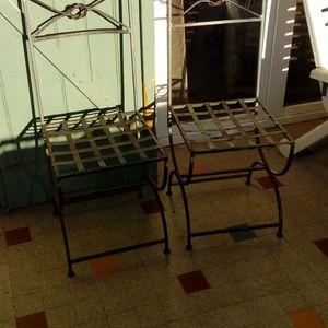 6 chaises en fer forgé