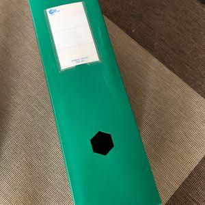 Pochette plastique large verte