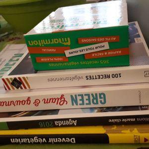 Lot de livres végétariens /healthy