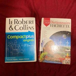 1 dictionnaire français Et 1 dictionnaire anglais