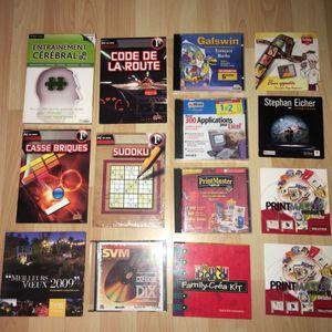 Lot de 20 CD-Rom Jeux, Education, Logiciels