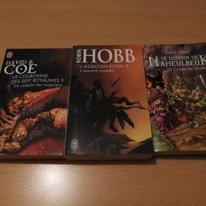 Lot de 3 livres fantastiques
