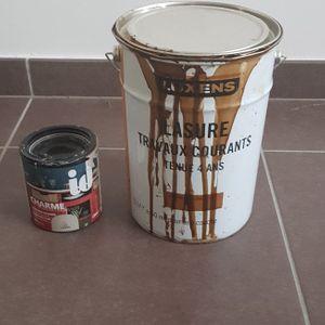 Lasure + peinture taupe sablé