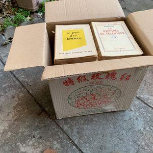 6 cartons de livres