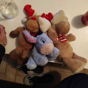 Lot de 3 peluches
