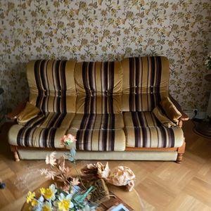 Canapé convertible et fauteuils