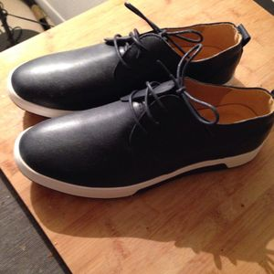 Chaussure cuir bleu marine t: 41