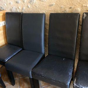 8 chaises grises anthracite