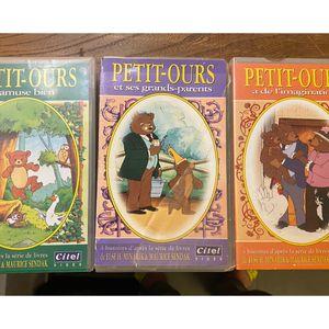3 vhs dessin animé Petit ours