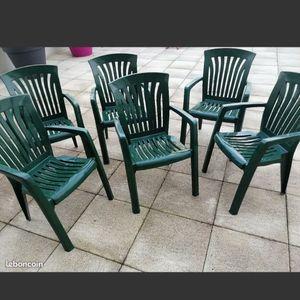 6 chaises de jardin