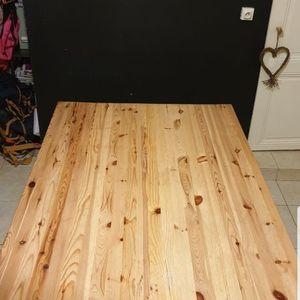 Table en bois rectangulaire avec rallonge