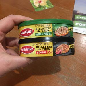 Deux boîtes de rillettes de thon